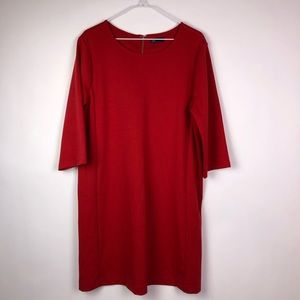 Gap Red Ponte Knit Dress